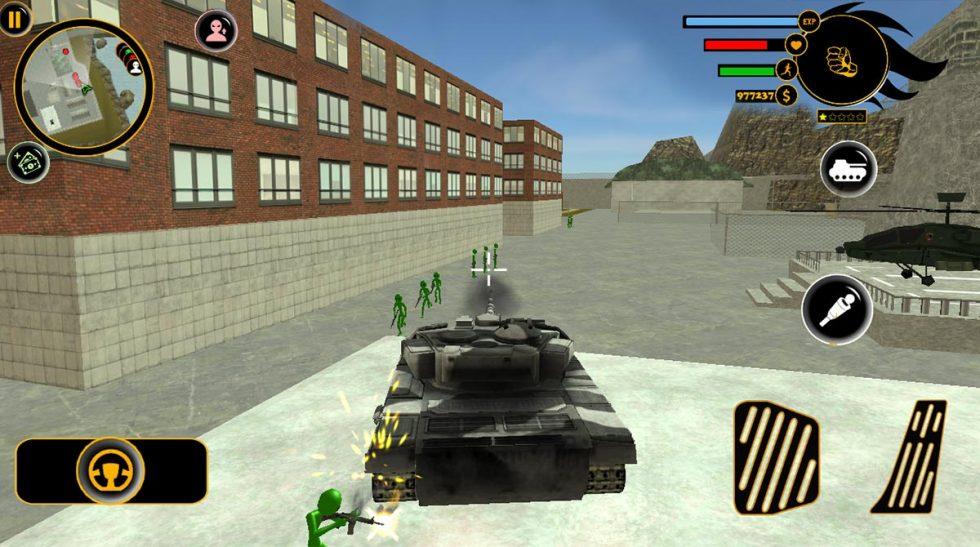 real stickman crime tank attack