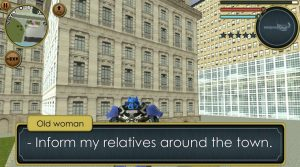 robot truck inform the town