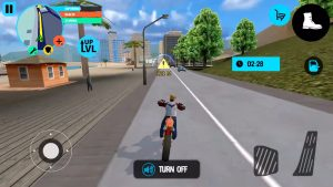 truck driver city crush motorcycle