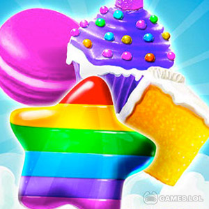 Play Crazy Cake Swap: Matching Game on PC