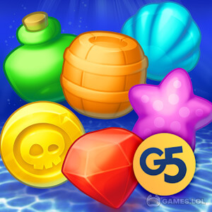 Play Pirates & Pearls – A Match 3 Pirate Puzzle Game on PC