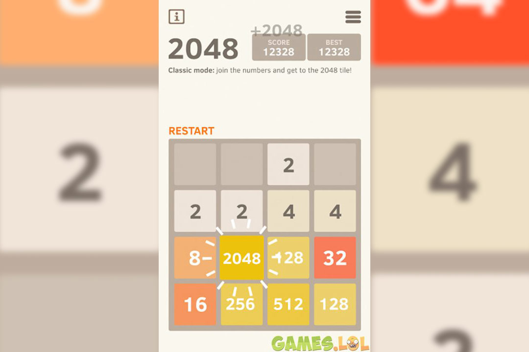 2048 number puzzle win