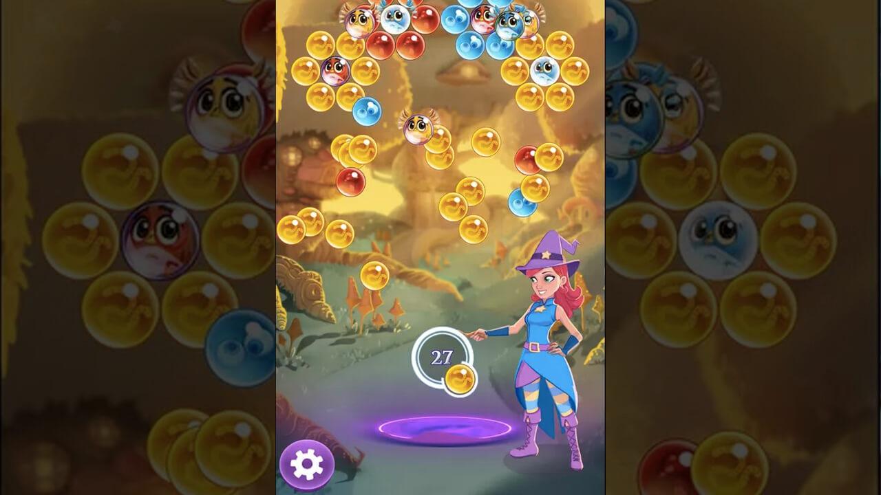Bubble Witch Saga Stellas Yellow Bubble