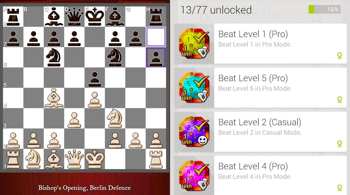 chess free unlocked levels and openings