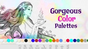 coloring book for me lady color palettes