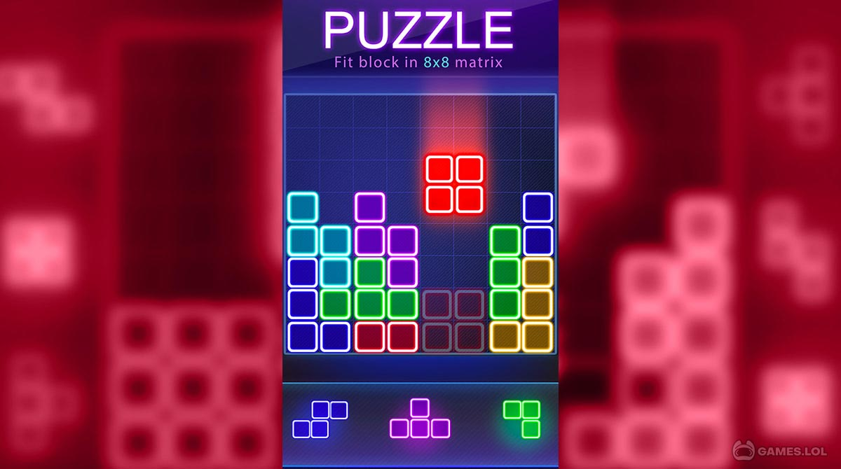 glow block puzzle download PC free