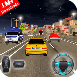 Play Drive in Car on Highway : Racing games on PC