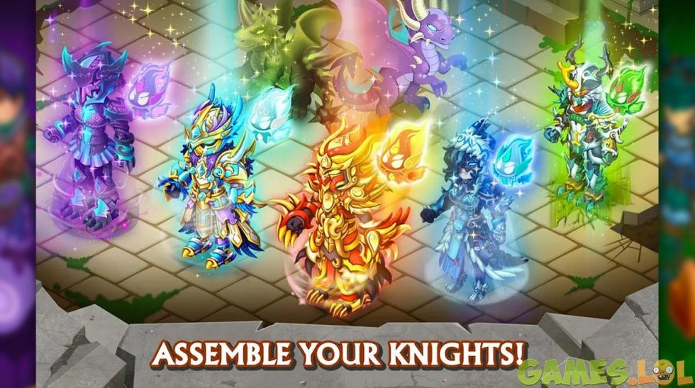 knights and dragons assemble