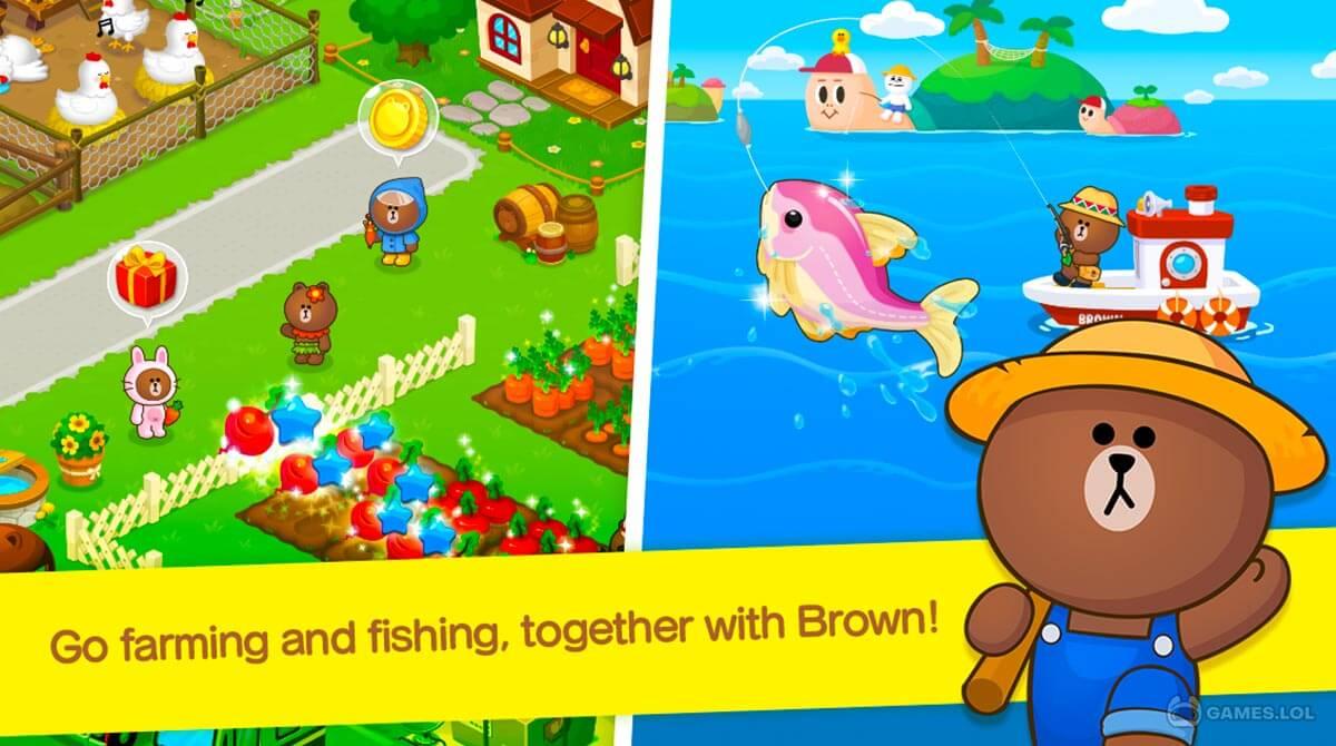 line brown farm download PC free