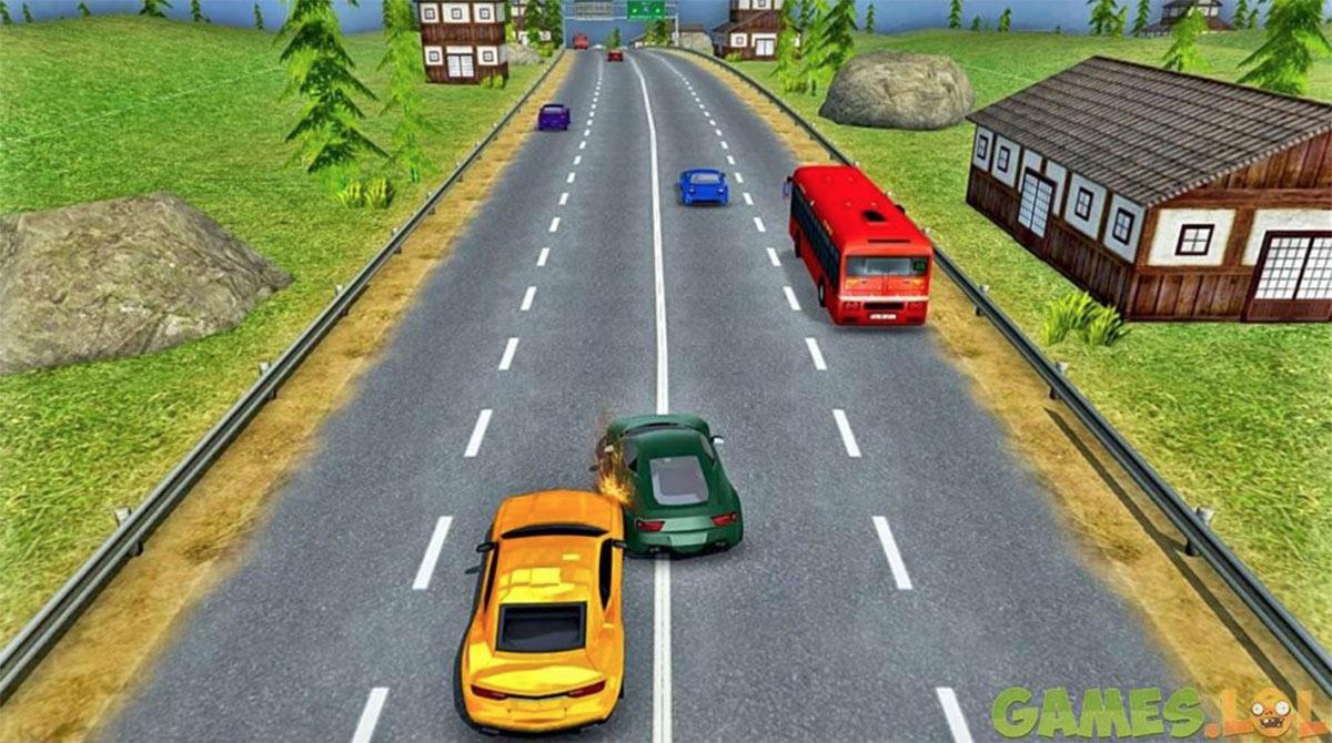 modern car crash road
