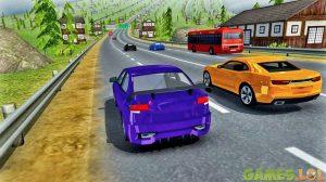 modern car highway
