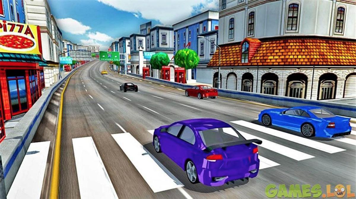 modern car small town
