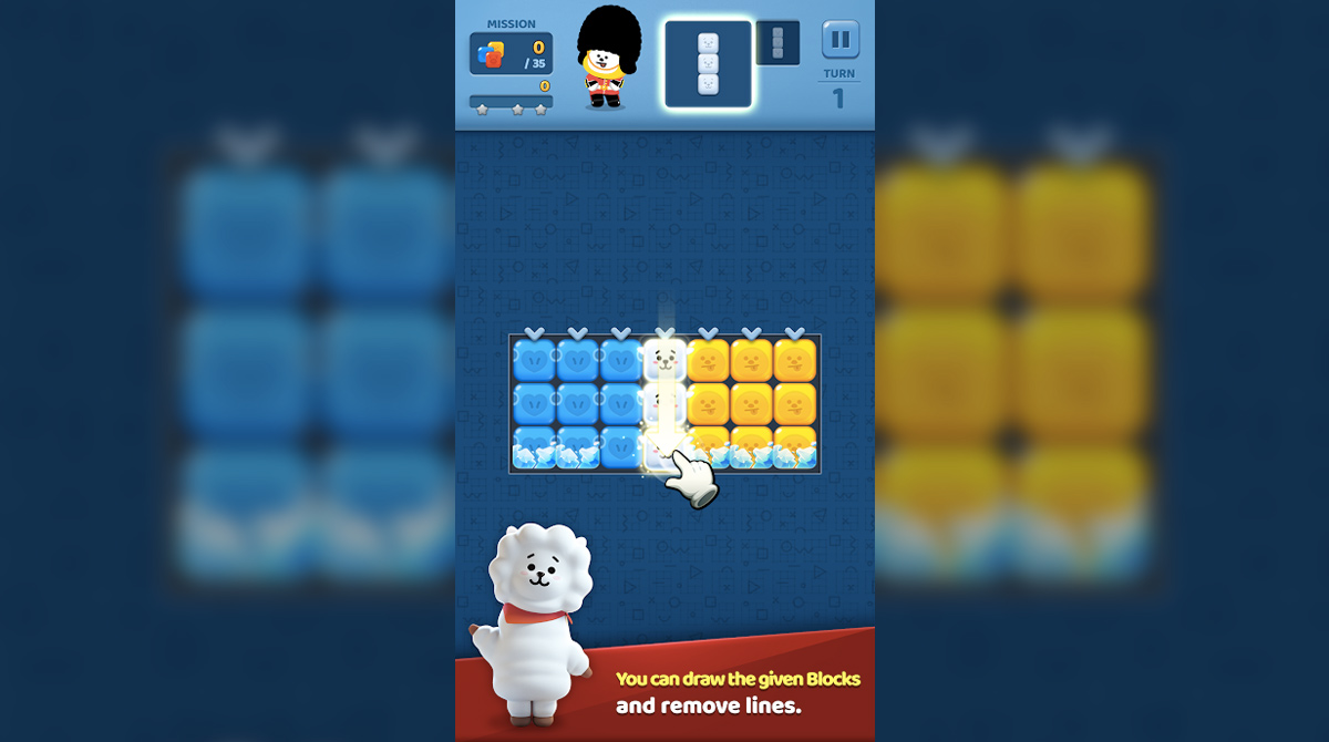puzzle star bt21 remove lines