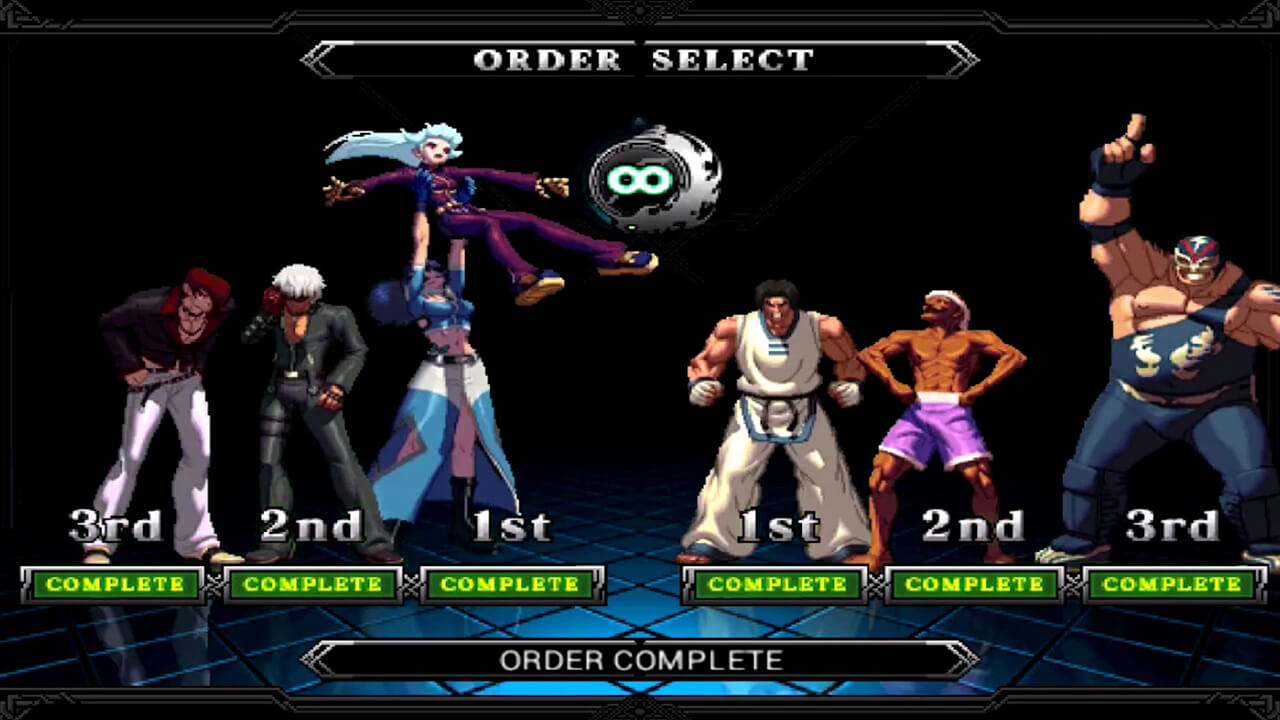 the king of fighters orders
