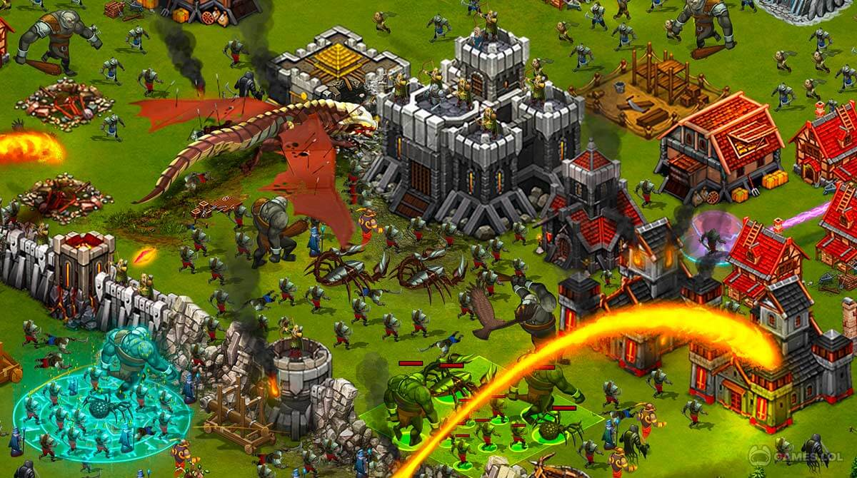 throne rush strategy troops attack