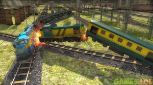 train racing train clash