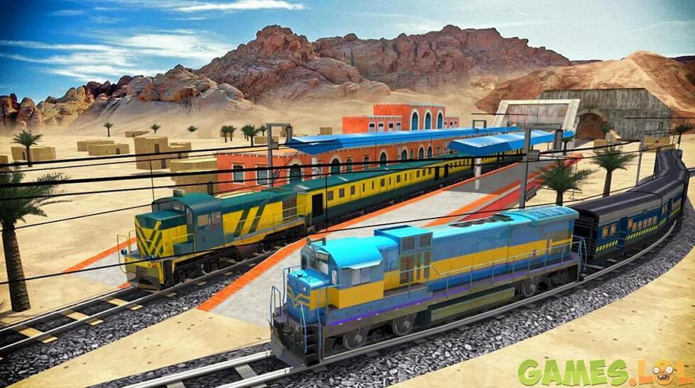 train racing two train