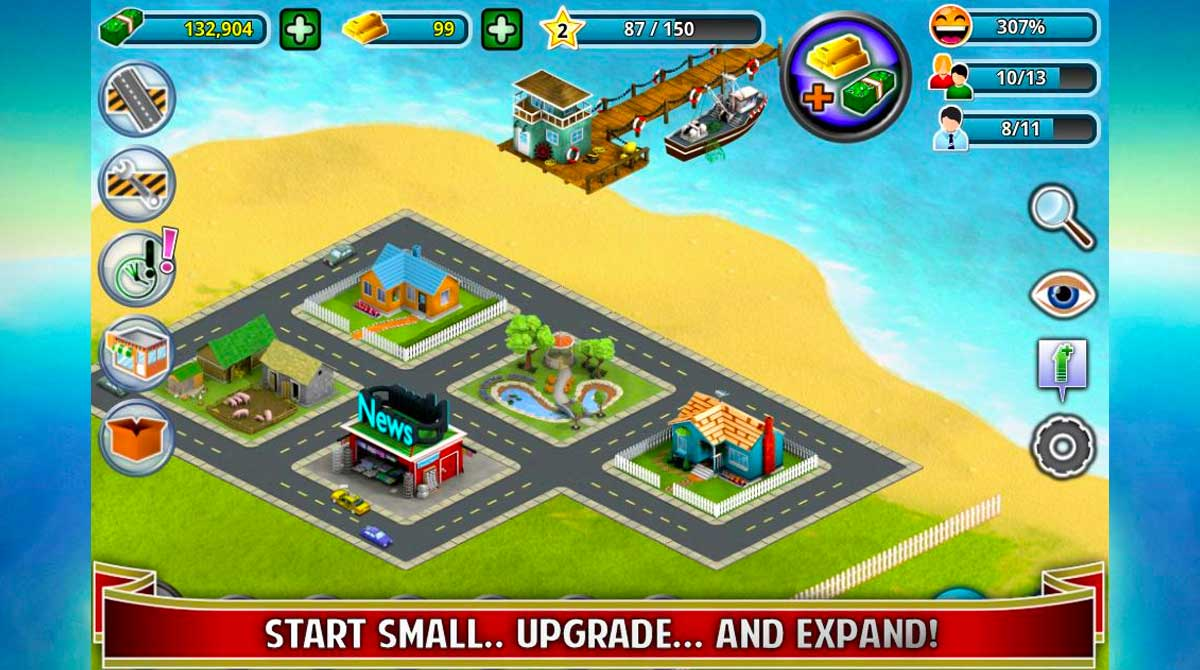 city island builder tycoon start small