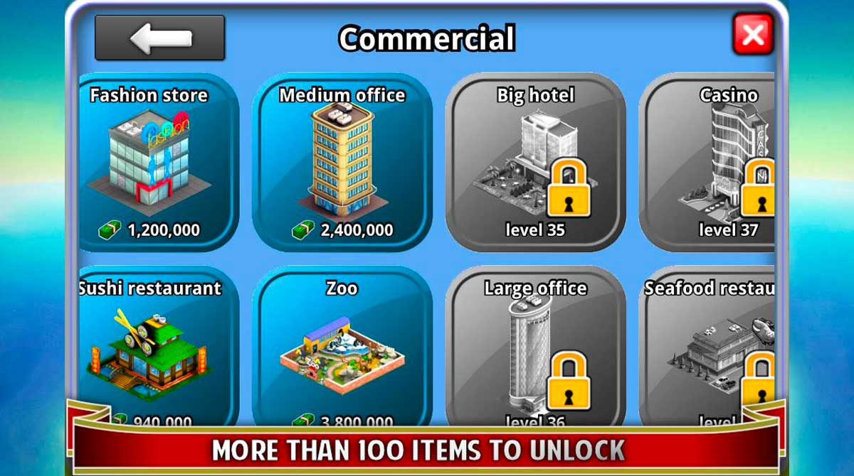 city island builder tycoon unlockables