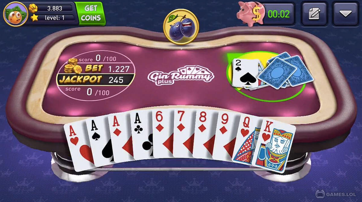 Gin Rummy Plus Jackpot Cards