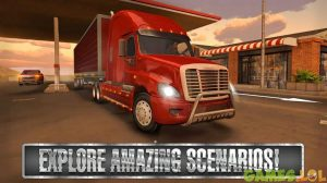 Truck Simulator USA Red Truck