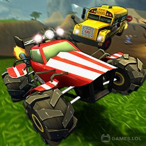 Play Crash Drive 2: 3D racing cars on PC