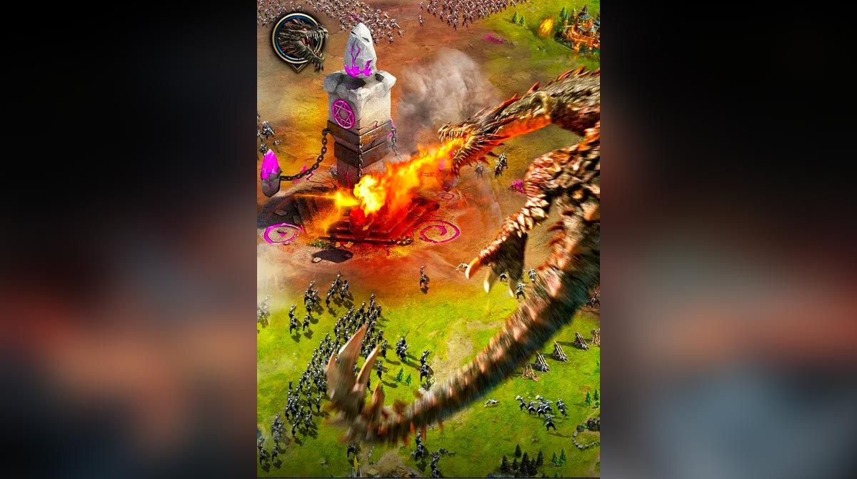 clash of queens dragon flame thrower
