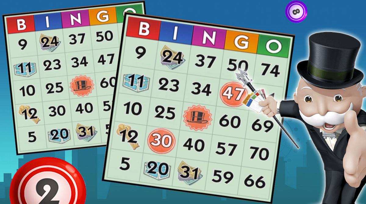 monopoly bingo cards
