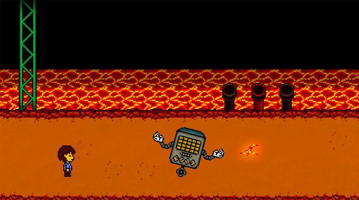 bonetale fangame encountering unicycle robot