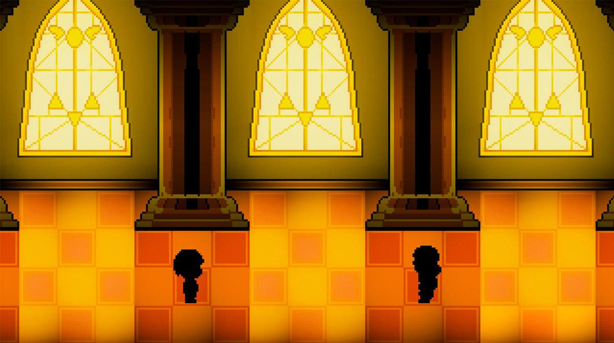 bonetale fangame inside the church