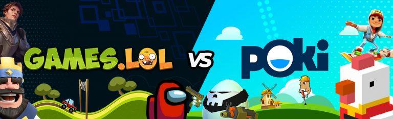gameslol vs poki comparison header