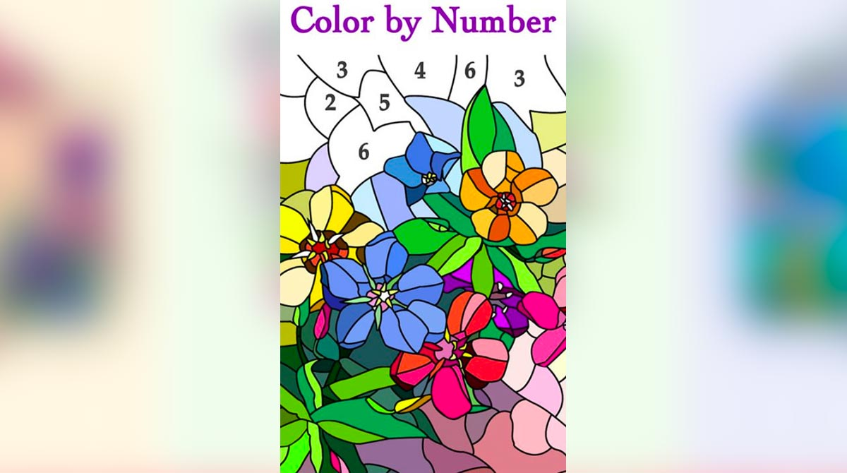 new coloring book colorful flowers