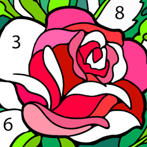 new coloring book pink rose petals