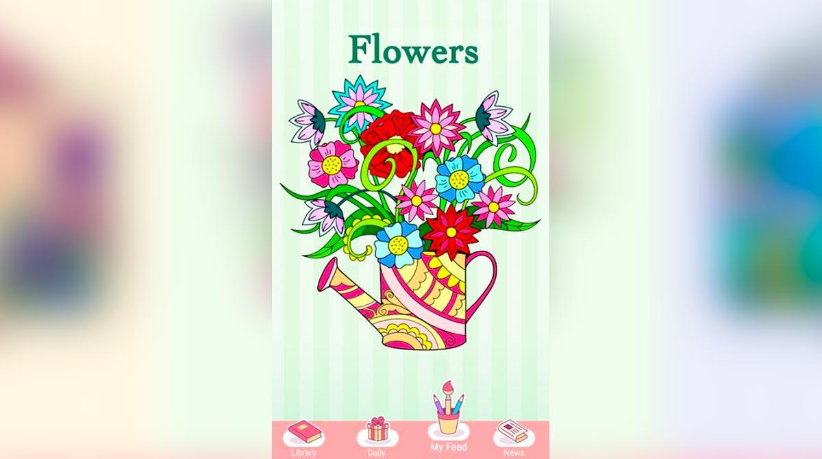 new coloring book prism flower vase