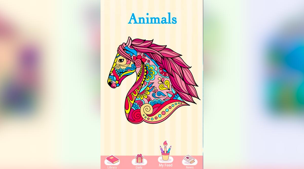 new coloring book tribal pink horse