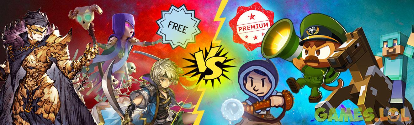 free versus pay choose games