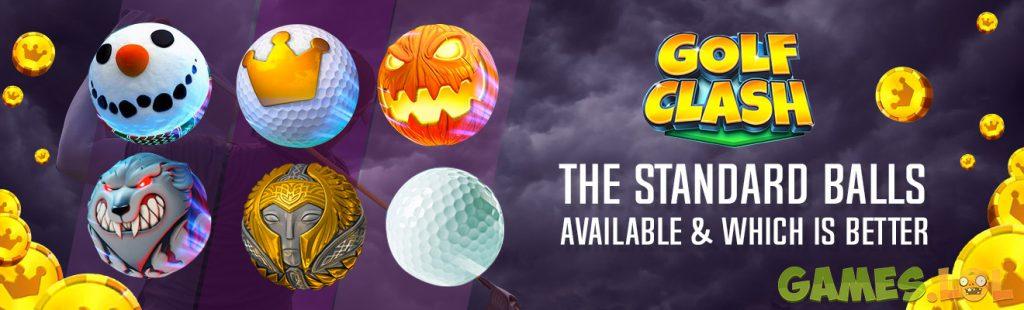 golf clash balls standard balls