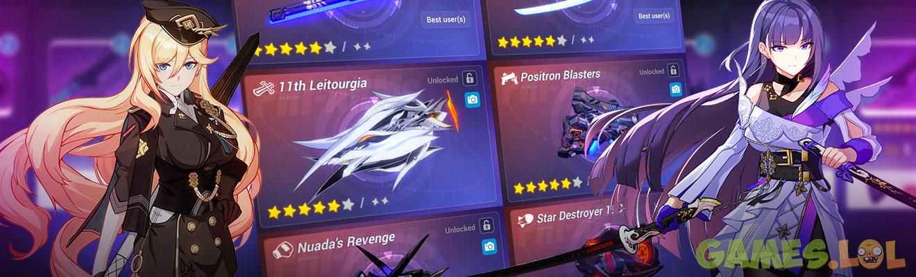 Honkai Impact 3 Weapon Tier List: In-Game Equipment List