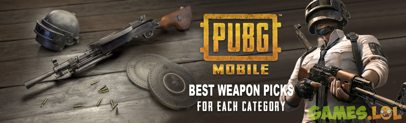 pubg mobile weapon for character