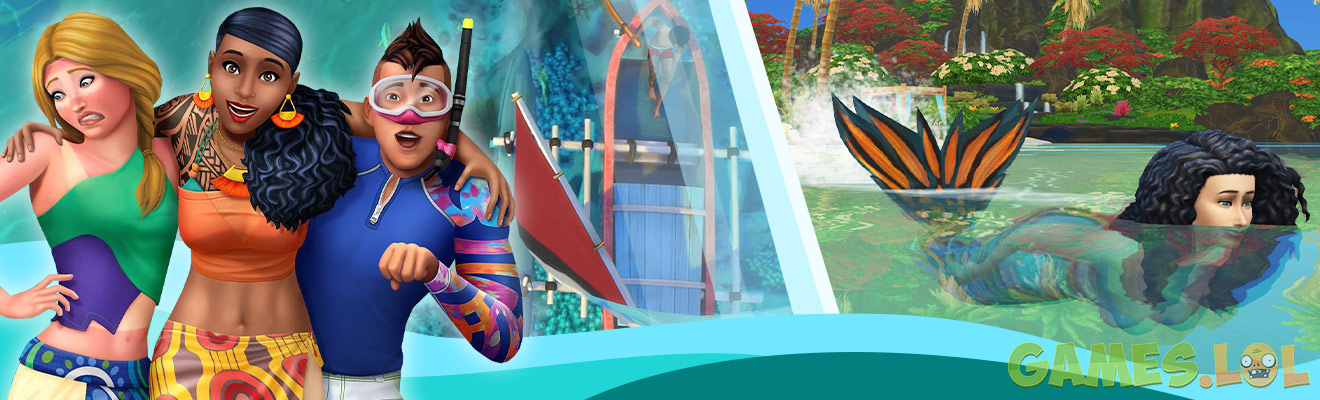 Sims 4: On Mermaids & Tons of Aquatic Fun in Island Living