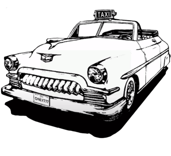 Crazy Taxi Classic white taxi