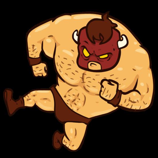 burrito bison on trunks side kicking