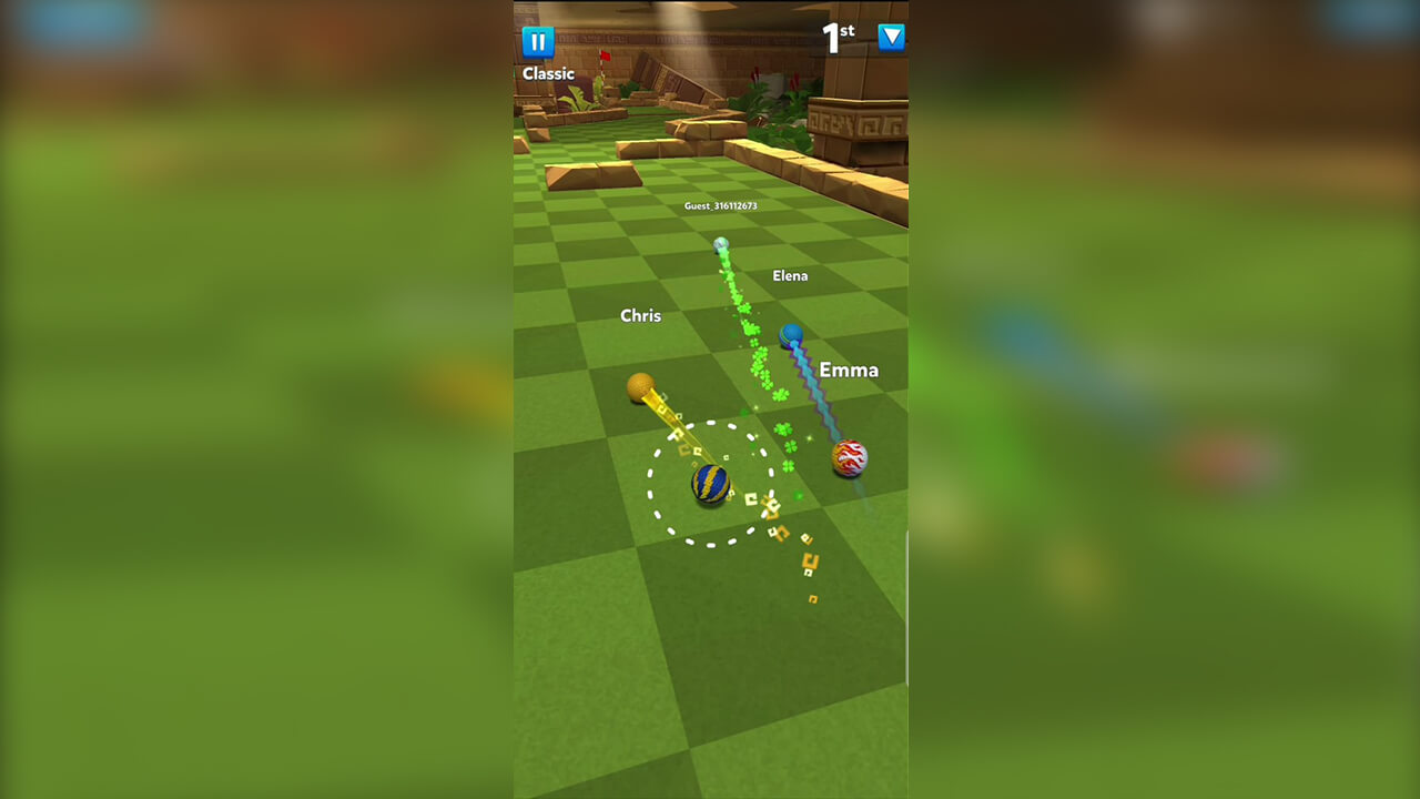 golf battle with friends