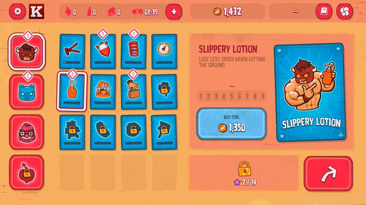 burrito bison slippery lotion buyable skill