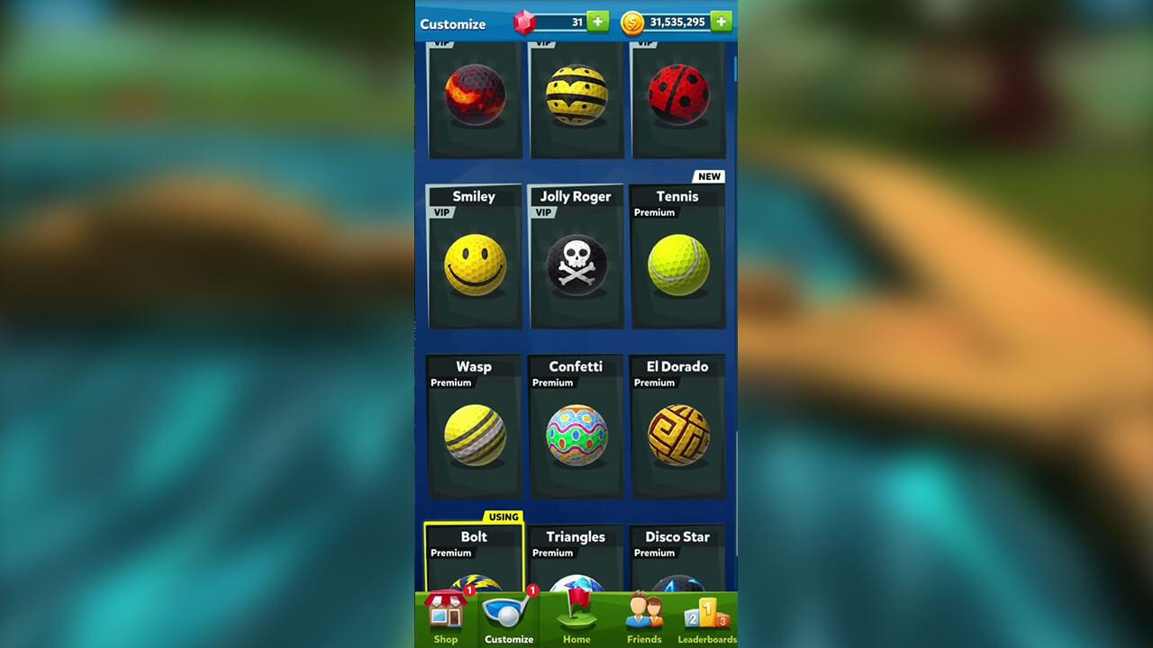 golf battle customize ball