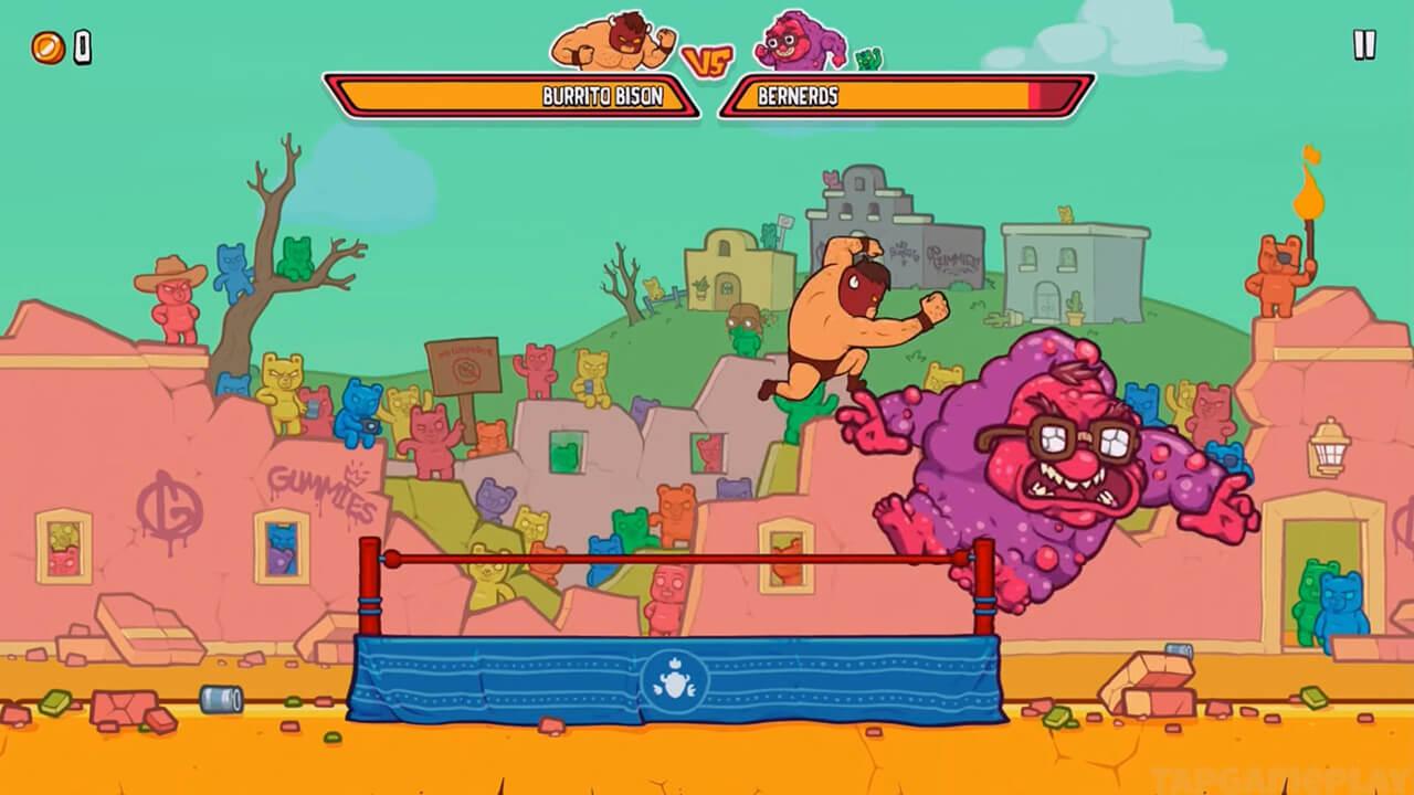 burrito bison superman punches berneros