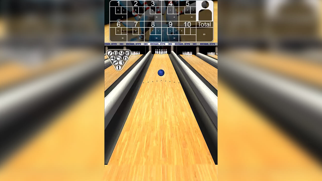 3D Bowling Rolling The Ball