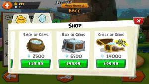 angry birds go gems shop