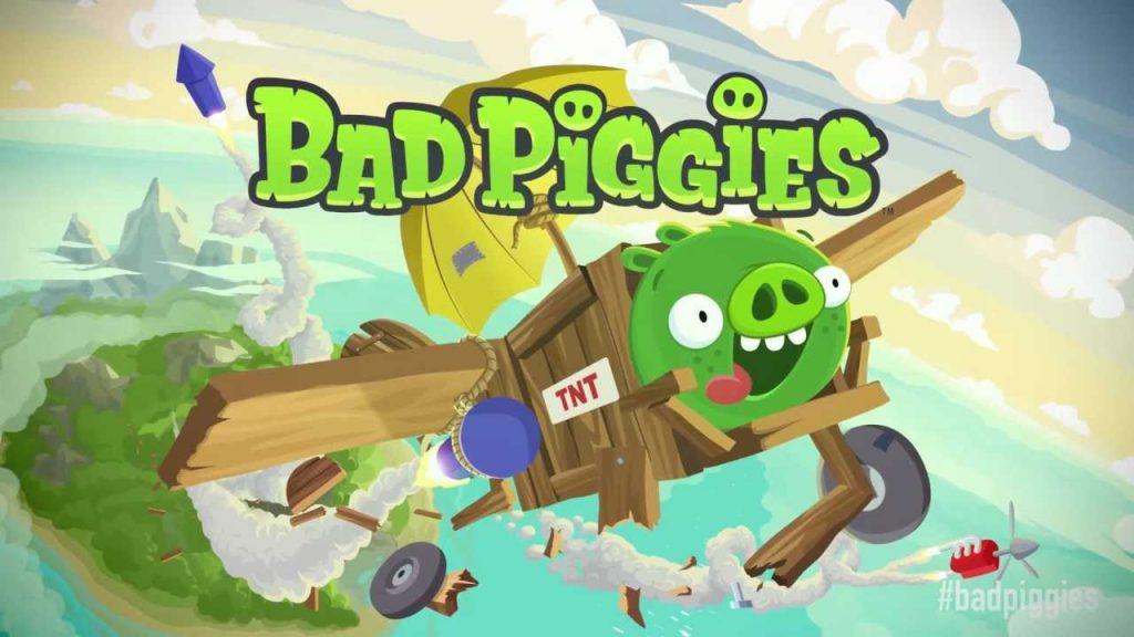 bad piggies flying plane