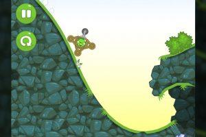 bad piggies riding cliff